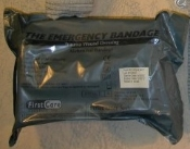 "The Emergency Bandage (8"") w/ 12x12 ab Pad Green packaging"