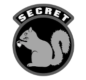 Secret Squirrel Sticker