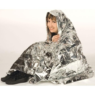"Emergency blanket / Survival Wrap (Silver 52""x84"")"