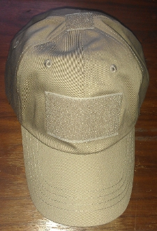 Ball-Cap with velcro pannels