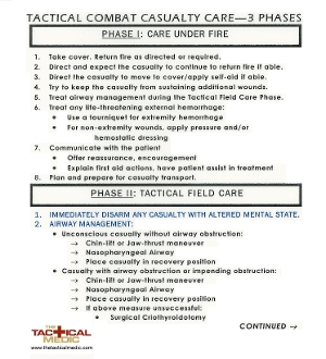 Casualty Care Card  (TCCC)