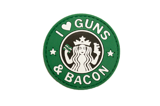 I Love Guns & Bacon PVC Patch