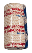 Elastic Bandage 4in with Self-Closure