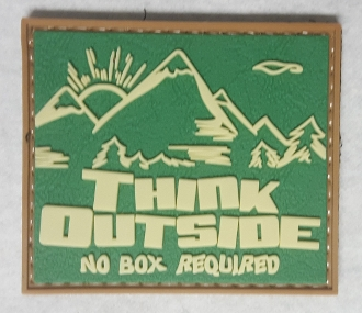 Think Outside No Box Required PVC Patch