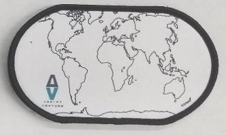 Where have you been - World patch with Hook & Loop backing